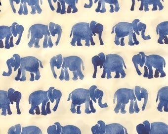 custom baby lovey/blanket ~ blue watercolor elephants ~ chic couture ~ baby accessories ~ baby lovey/blanket from lillybelle designs