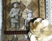 Vintage Junk Journal Composition Notebook Diary Book Memory Journal