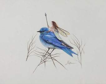 The Bird Fairy - Fine Art Print