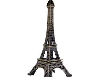 Metal Eiffel Tower France Stand Ornament 4""