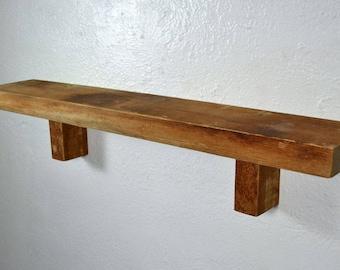 Reclaimed wood wall shelf 28 long 5 wide