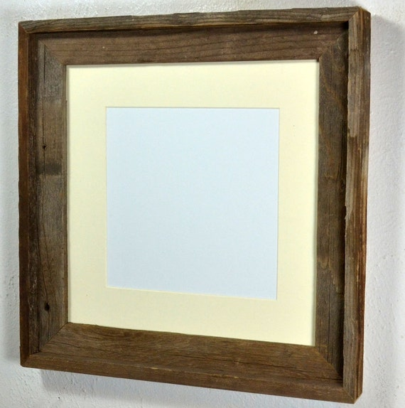 wood frame 12x12 eco friendly with mat for 10x10 or 8x8 photo or print from barnwood4u on etsy. Black Bedroom Furniture Sets. Home Design Ideas