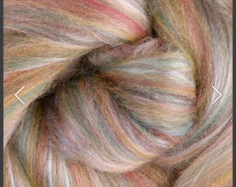 Fiber for spinning merino and silk combed top for spinning , SHIPS FREE 50 gr
