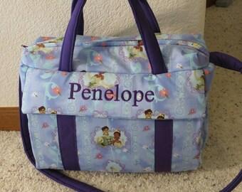 Princess Tiana diaper Bag w/change pad by EMIJANE Free embroidered name