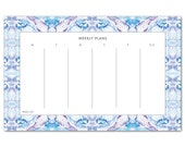 Weekly Planner Notepad Bohemian Pattern / Gift for Her / Gift Under 25 / Stocking Stuffer