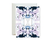 ONE IN a MILLION Lavender Periwinkle Indigo Tiled Marble Greeting Card / Birthday / Thank You / Valentine / Friendship