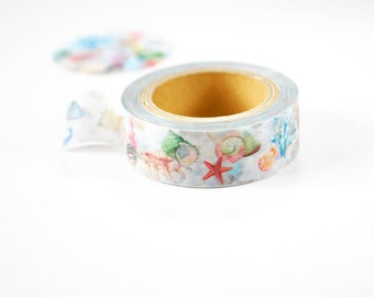 Shell Washi Tape • Kamito Covo & Roi Japanese Masking Tape CRM029
