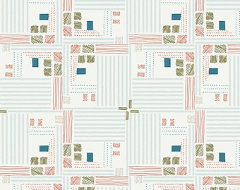 Art Gallery Bountiful Tartan Field Snow 100% Cotton Fabric