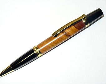 Handmade Wood Pen Elegant SIERRA Parker Ballpoint Pen CHERRY BLOSSOM  Gold and Gun Metal