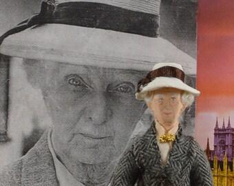Joan Hickson as Miss Marple, Agatha Christie Character, Mystery Literature, Art Doll Miniature