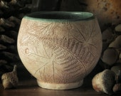 Forest  Tea Bowl with Wood Fern