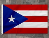 Puerto Rico Cotton Flag, Stitched Design, Pennant