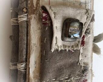 "Handmade Blank Watercolor Journal Book.......""my wish"""