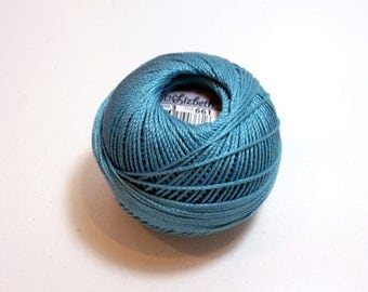 Tatting Thread, Lizbeth Cotton Crochet Thread, Medium Country Turquoise, Color number 661, Blue Thread, Choose a Size 3, 10, 20, 40, 80