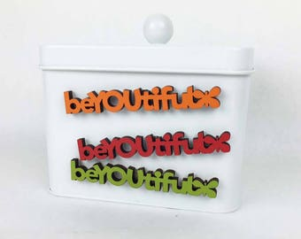 BeYOUtiful Fridge Magnet, Beautiful Magnet, Romantic Wood Magnet, Mini Kitchen Magnet