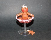 Gingerbread Man in a Martini Polymer Clay Christmas Ornament