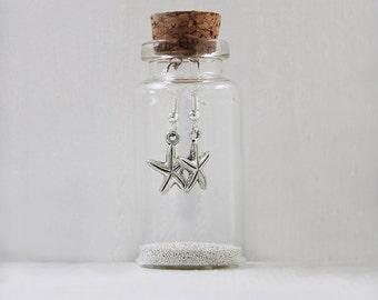 Starfish Earrings In A Little Bottle