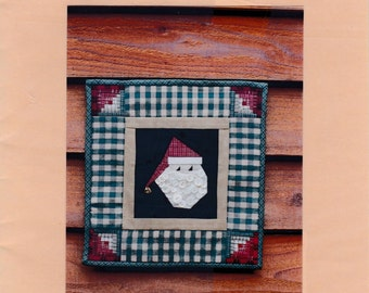 Santa Claus Applique Quilt Wall Hanging Uncut Sewing Pattern Free US Shipping 1996