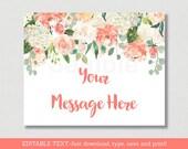 Floral Bridal Shower Welc...