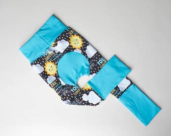 Maxaloones, Maxaloone pants, You are my Sunshine cloth diaper pants, grow with me pants, monsterbunz, baby leggings, leggings, babywearing