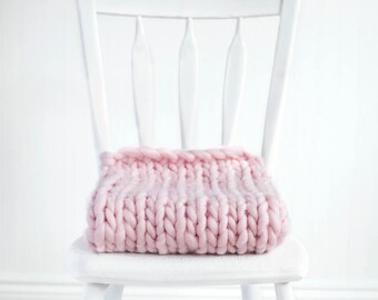 Extra Thick Baby Blanket Photography Prop, Pink, Basket Stuffer, READY TO SHIP Newborn Photo Prop
