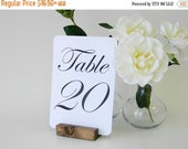 15% off ends Sun. at 5pm Table Number Holder + Rustic Wedding Wood Table Number Holders