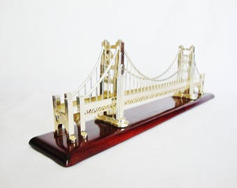 vintage golden gate bridge model sculpture san francisco