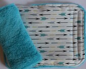 Arrows Turquoise Reversible Car Seat Strap Covers