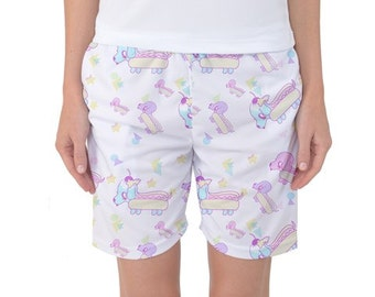 Hot Dog Shorts, Kawaii Shorts, Pastel Shorts