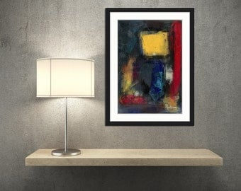 Bold MID- CENTURY Inspired Original Modern Art, Abstract Artwork, Acrylic Painting Artwork, Gift for Him