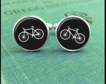 Bike cufflinks, Bicycle cufflinks, Gift for Cyclist Gift, Cyclist Cufflinks, Bicycle Jewelry, Bike Cuff Links, Cyclist Gift, Triatholon Gift