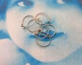 Brass Ox Plated Brass Round Ear Wires 641BOX x10