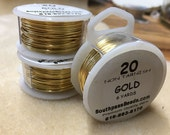 20 gauge Non Tarnish Gold Plated Copper Craft Wire 6 yards Made in USA