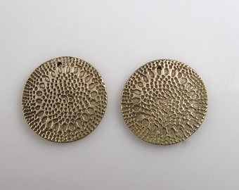 Handmade Bronze Components - Gold - Bronze Components - One Inch