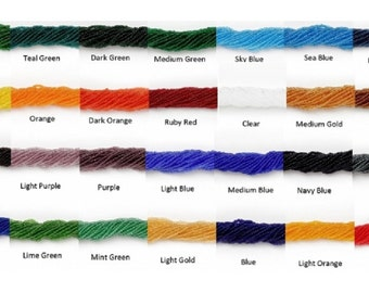 Czech 11/0 Seed Beads Transparent 1 Hank - 28 Color Choices fnt