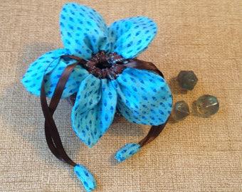 Flower dice bag 'Electric Java'