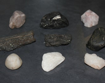 Black and White Crystal Collection, Anthracite Coal Crystal, Quartz Crystal, Raw Mineral, Crystals, Natural Stone