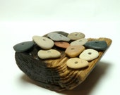 Beach Stones SHAGBARK Drilled Holes Pebbles Cairn Stacks Jewelry Beads Upcycled Spacers Lake Rocks Natural Rock Finds Supporting Cast