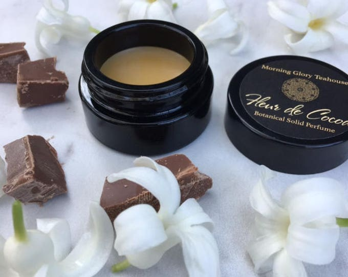 FLEUR DE COCOA Botanical Solid Perfume ~ hypnotic Jasmine Accord with notes of Ylang Ylang, Vanilla Bourbon, and Dark Chocolate / gourmand