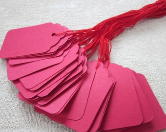 25 Medium Red Hang Tags