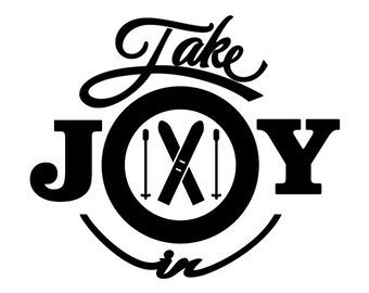 Take Joy In Skiing Decal