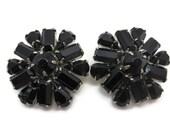 Weiss Jewelry Black Rhinestone Earrings - Costume Jewelry