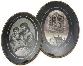 Religious Images - Polish Monastery, Brass Frames