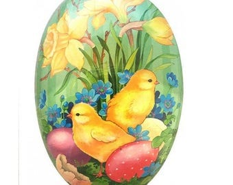 "Germany Papier Paper Mache Easter Egg Box  3-1/2""  PME525P"