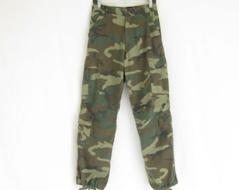 Vintage Military Camo Pants.  Size Med/ Small