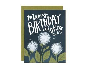 Many Birthday Wishes Illustrated Card // 1canoe2