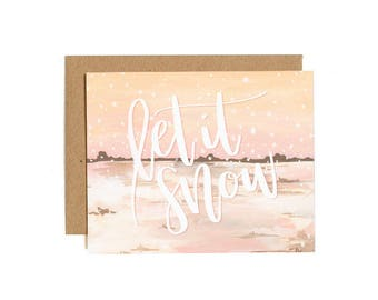 Let It Snow Illustrated Card - Boxed Set // 1canoe2