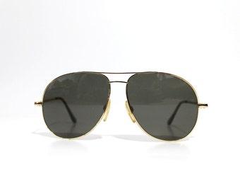Vintage Randolph Engineering Gold Filled Cross Bridge Aviator Sunglasses