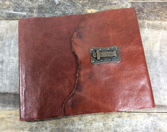 Brown leather Guest book with lines for names, addresses, email and comments / Guest book for wedding / funeral guest book/ winery
