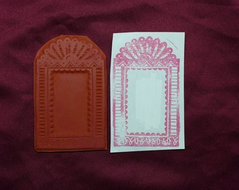 Fancy Frame /  Unmounted Rubber Stamp
